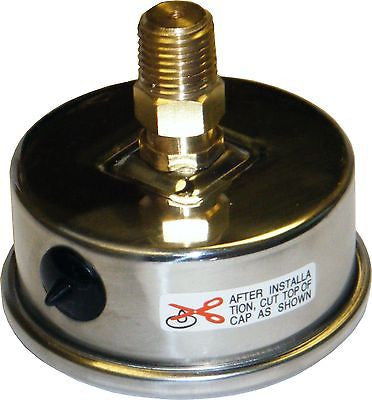 PRM 304 Stainless Steel Pressure Gauge with Brass Internals, 0-100 PSI, 2-1/2 Inch Dial, 1/4 Inch NPT Back Mount