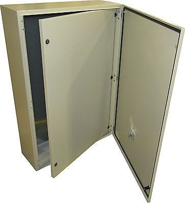 Tecnomatic Panel Enclosure, 48 X 32 X 16 with Dead Front and Back Plate, Powder Coated, 28270-PD