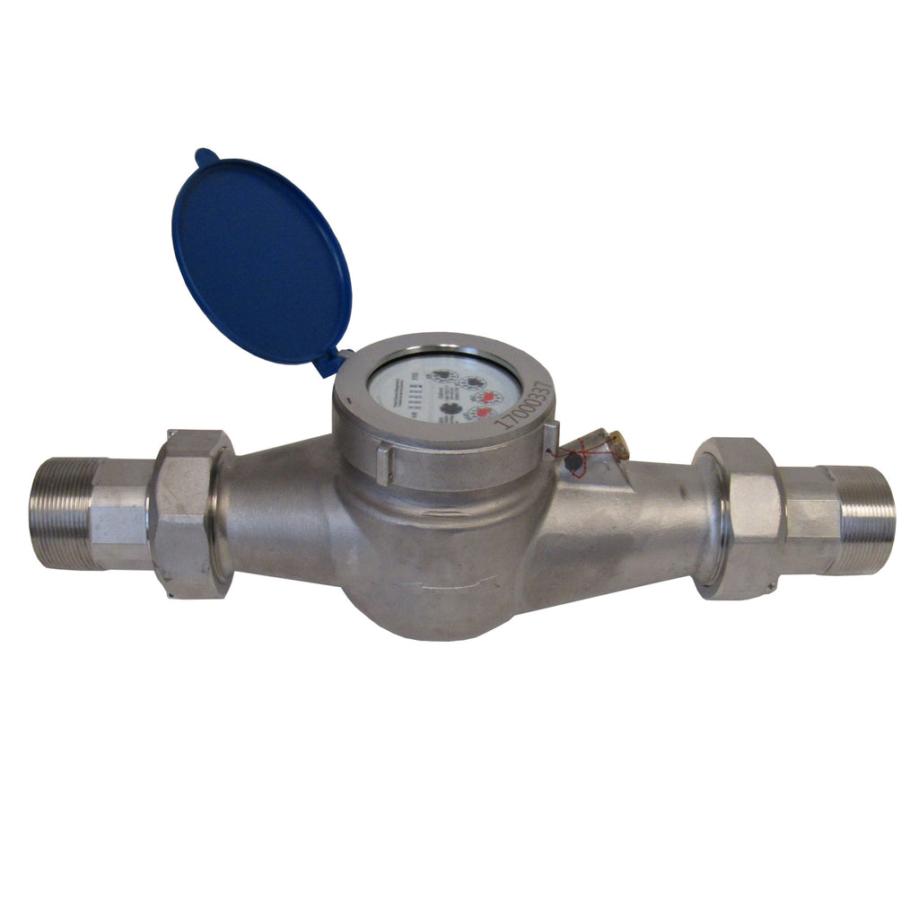PRM 3/4 Inch NPT Stainless Steel Multi-Jet Totalizing Water Meter