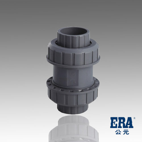 ERA Sch 80 PVC True Union Ball Check Valve - 1 Inch Socket Connection