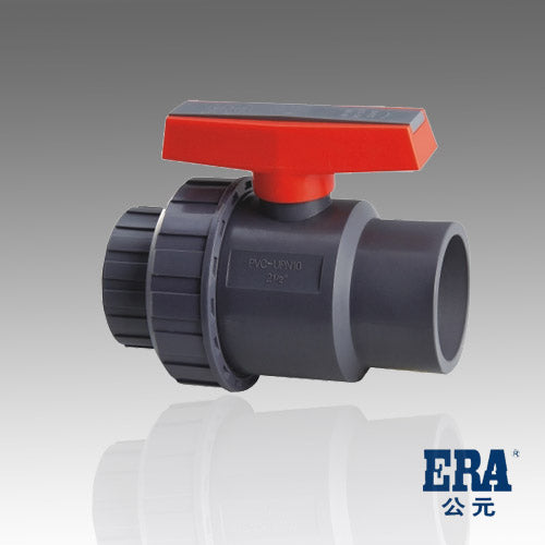 ERA SCH 80 PVC Single Union Ball Valve 2 Inch Socket X Slip