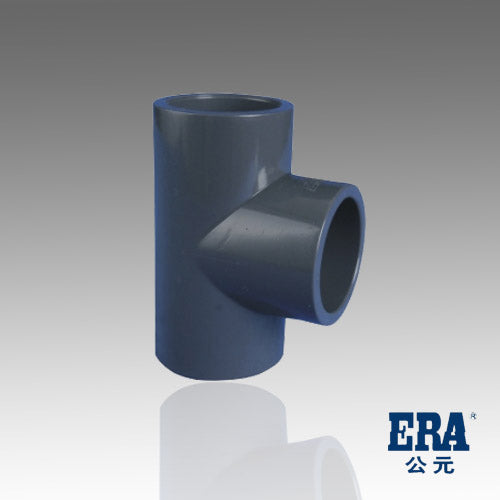 ERA Sch 80 PVC Straight Tee, 2 Inch Socket Connect