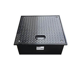 24 X 24 X 10 Inch Well Vault, Bolt-Down Lid with Handle, Water Resistant