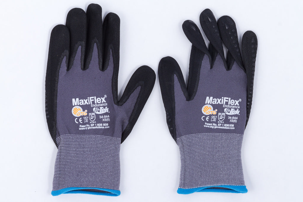 ATG 34-844 MariFlex® Endurance™ Nylon, Micro-Foam Nitrile Grip Gloves- X-SMALL(6)