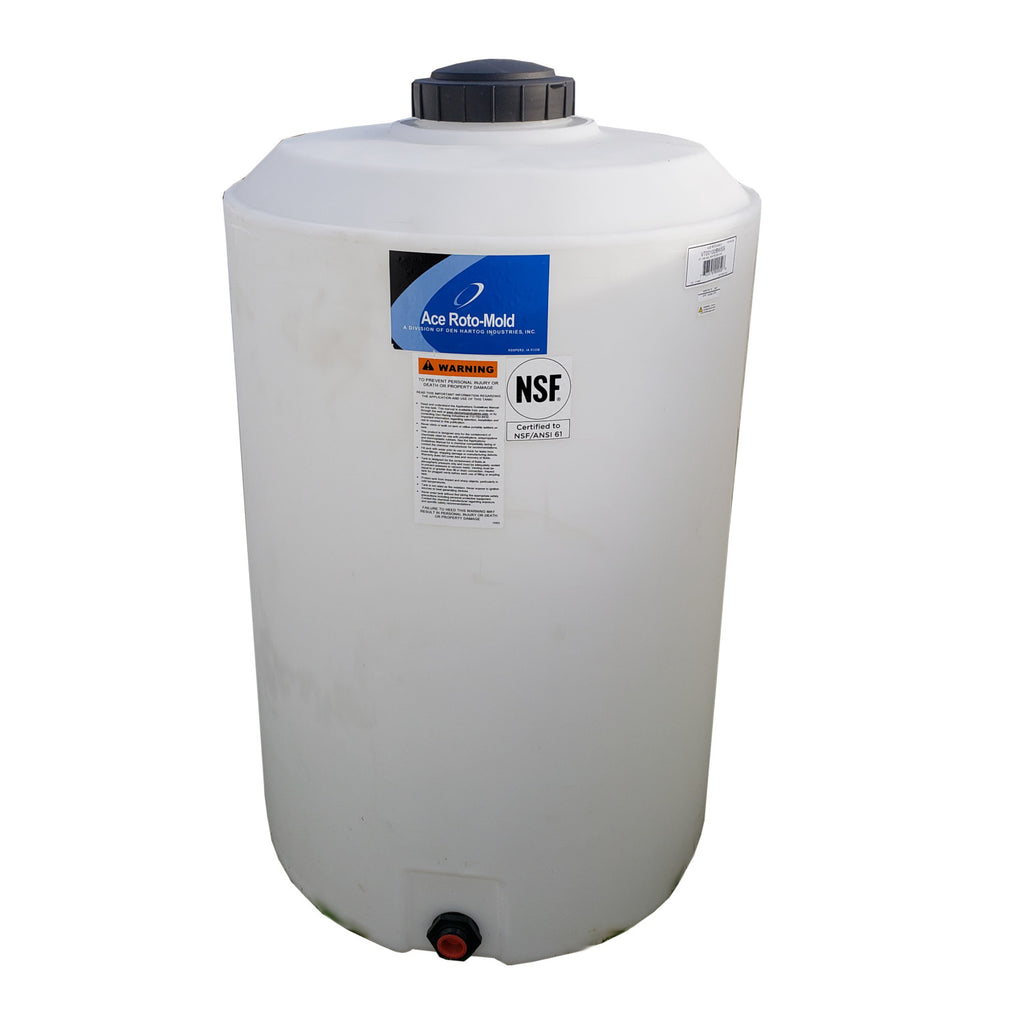 Ace Roto-Mold 100 Gallon Vertical Flat Bottom Tank, VT0100-28