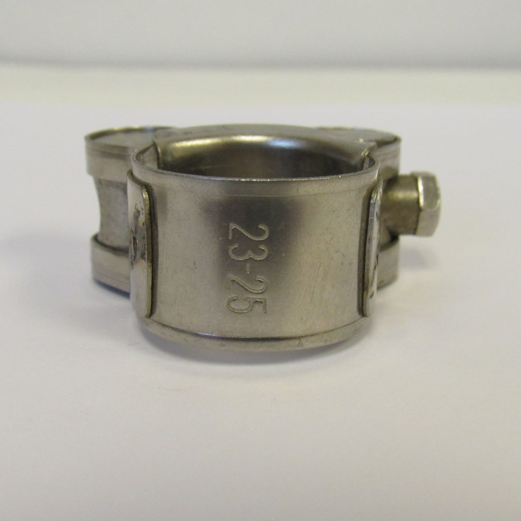 "23-25 mm (0.91"" to 0.98"") Heavy Duty T-Bolt Hose Clamps, 304 Stainless Steel"