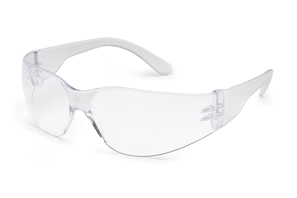 GATEWAY STARLITE SMALL SAFETY GLASSES, 3680, CLEAR TEMPLE, CLEAR LENS