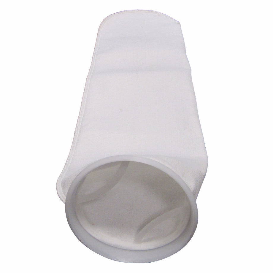 #2 Size Liquid Filter Bags - Polyester Felt, Polypropylene Ring - 25 Micron