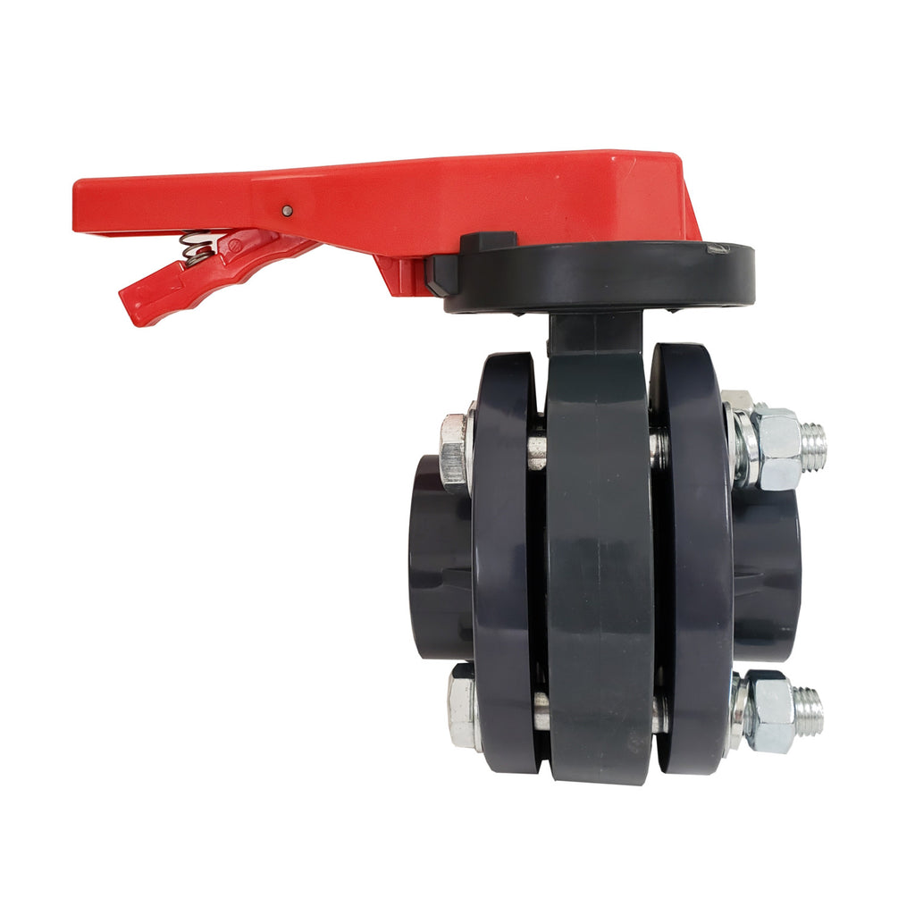 ERA Sch 80 PVC 3 Inch Butterfly Valve Kit, With Flanges and Hardware