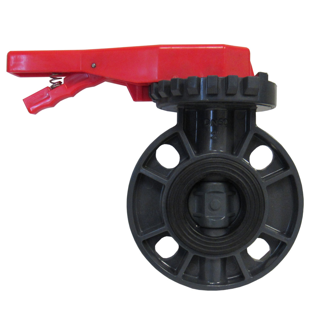 ERA Sch 80 PVC 2-1/2 Inch Butterfly Valve, Lever Handle