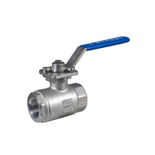 BONOMI 3100 - 2 PIECE STAINLESS STEEL FULL PORT MANUAL BALL VALVE - 1 INCH