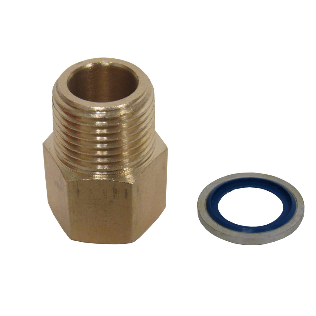 Brass Adapter - 3/8 Inch NPT Male X 3/8 Inch BSPP Female with Sealing Washer