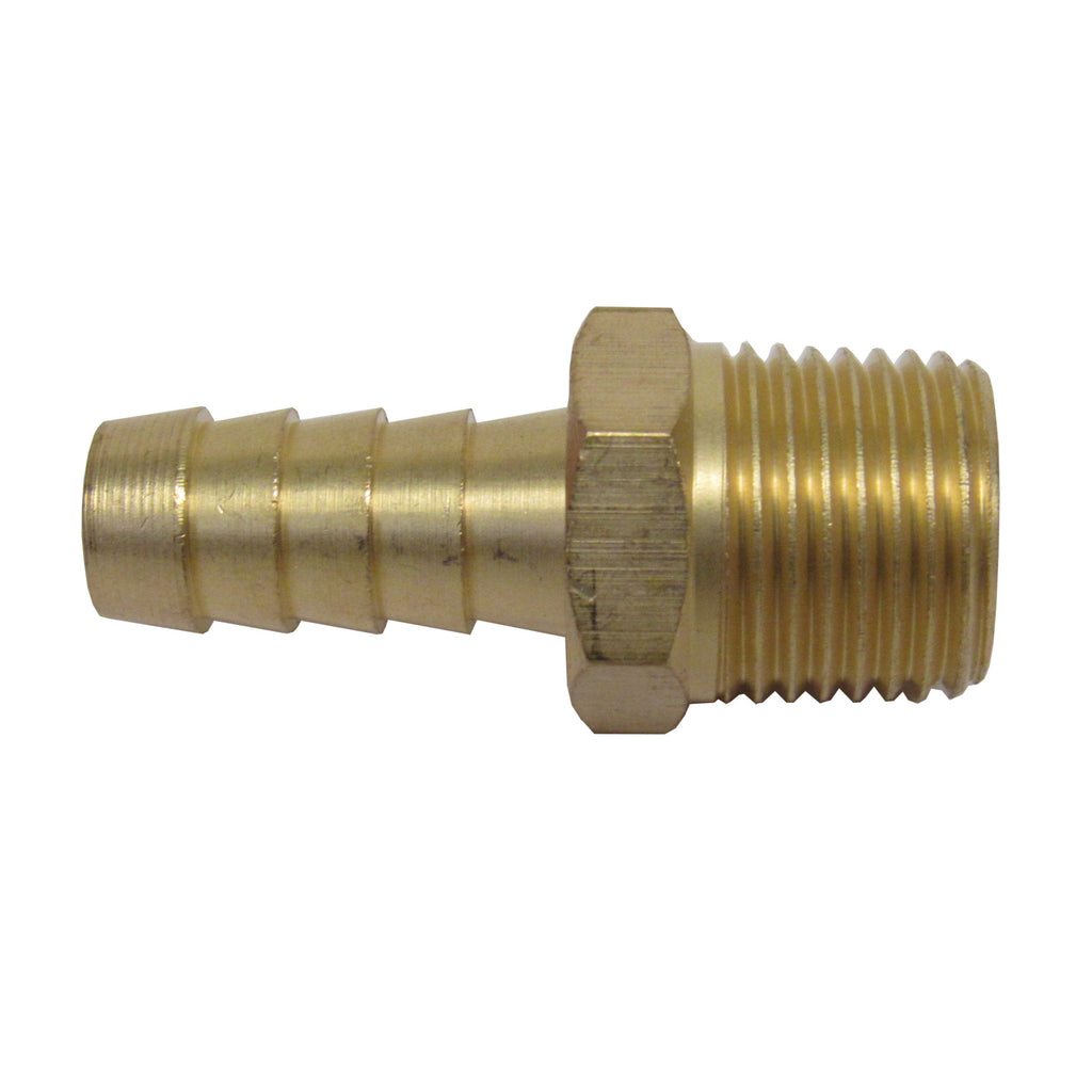 Brass 1//2 NPT Male to 1 Barbed Straight