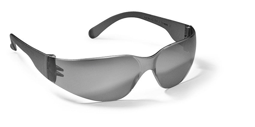 GATEWAY SAFETY STARLITE SAFETY GLASSES, SILVER MIRROR LENS, GRAY TEMPLE, LIGHTWEIGHT, 468M