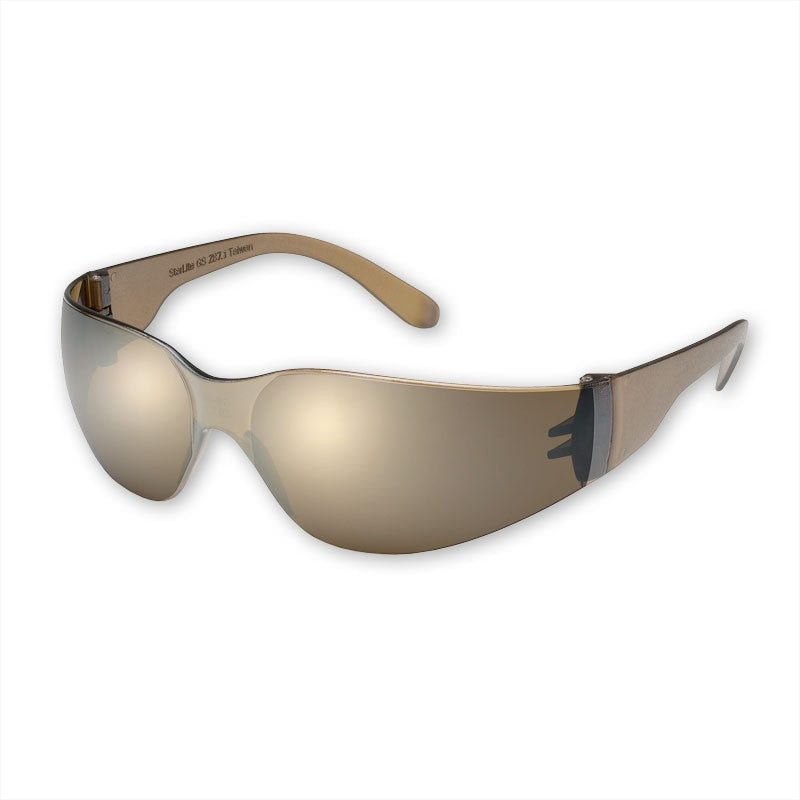Gateway Safety Starlite 466M Safety Glasses, Mocha Mirror Lens, Mocha Temple, Lightweight
