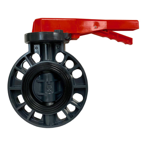 ERA Sch 80 PVC 3 Inch Butterfly Valve, Lever Handle