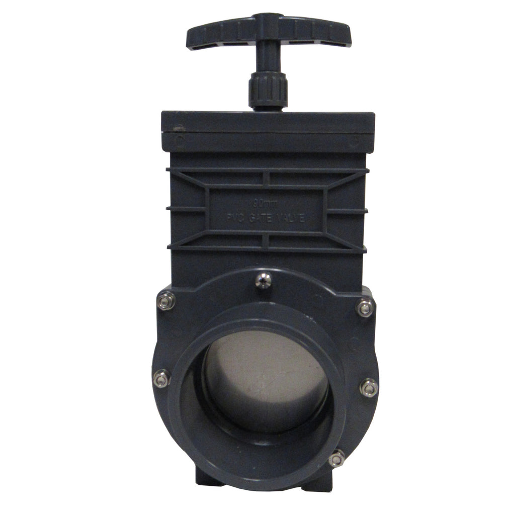 Omen Sch 80 PVC 3 Inch Gate Valve, Socket X Socket Connection