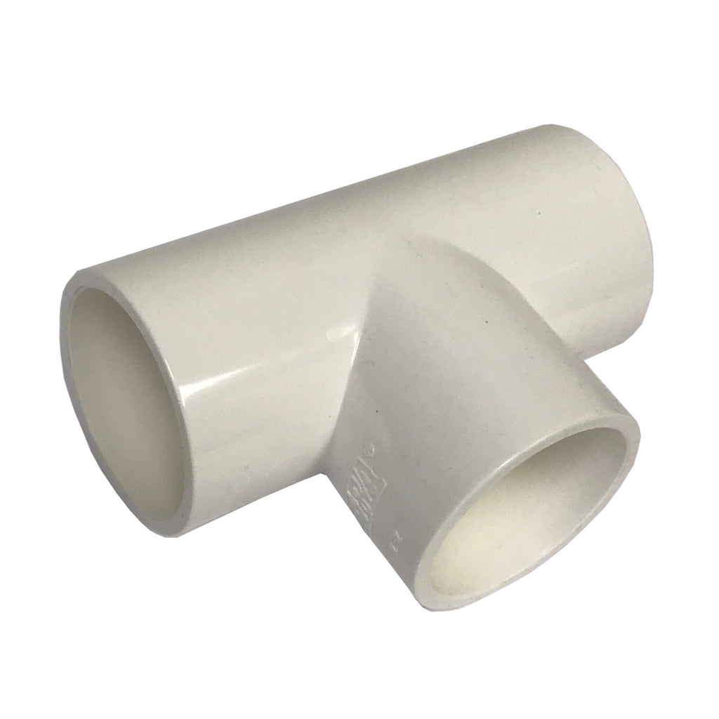 ERA Sch 40 PVC Straight Tee, 2 Inch Socket Connect