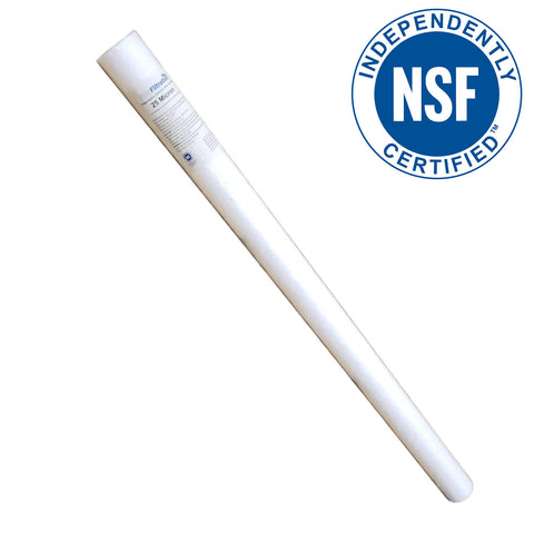PRM Filtration PA4025 Spun Polypropylene Sediment Filter Cartridges, 40 Inch x 2.5 Inch, NSF Certified - 25 Micron