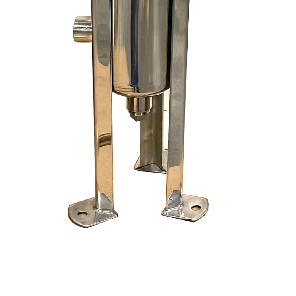 PRM #4 304 Stainless Steel Bag Filter Housing, 1 Inch NPT Inlet, Side and Bottom Dual Port Outlet-150 PSI