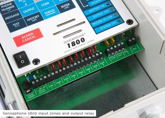 Sensaphone 1800 Monitoring System Inputs Zones and Output Relay