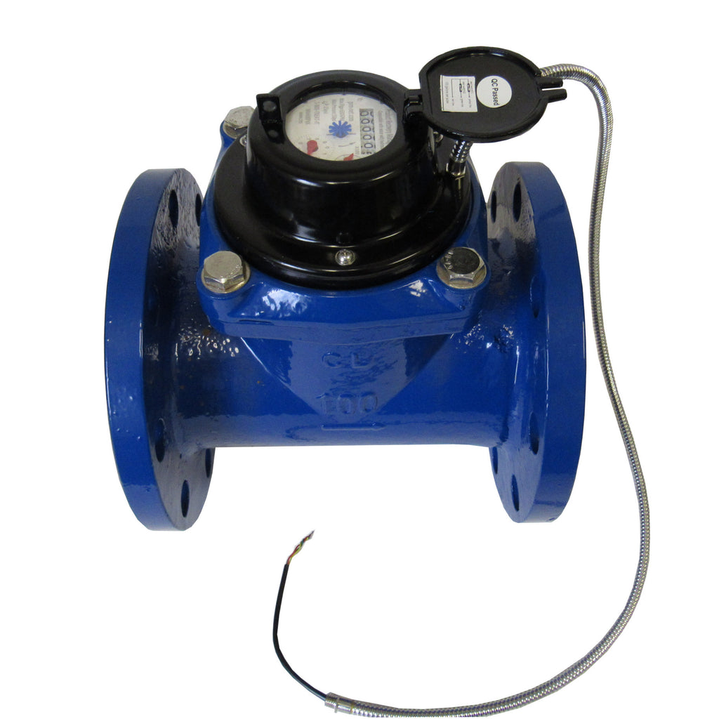 PRM Woltmann Helix Style 4 Inch Flanged Totalizing Water Meter with Pulse Output