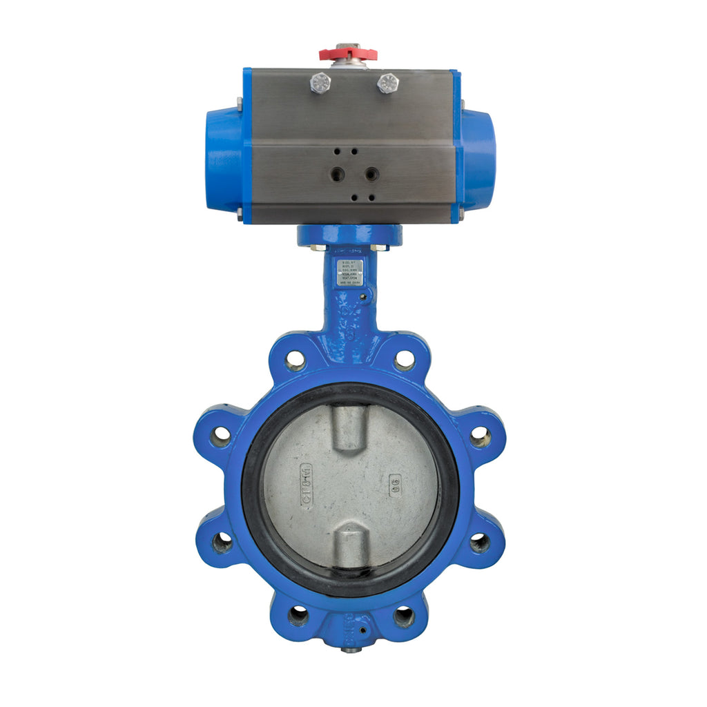 Bonomi SRN501S Lug Style Butterfly Valve, Stainless Steel Disc with Spring Return Actuator