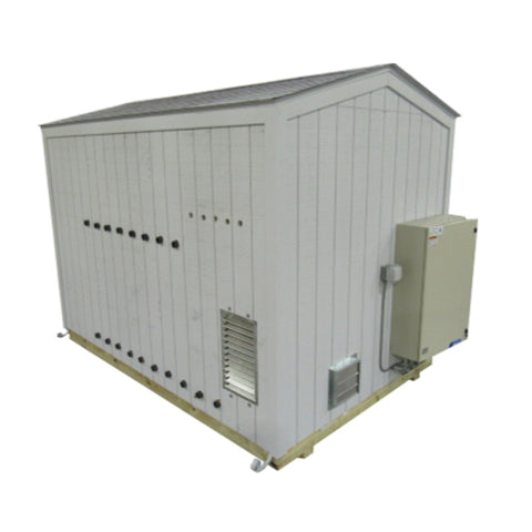 Pre-Engineered Air Sparge/SVE System, 8' x 12' Insulated Building