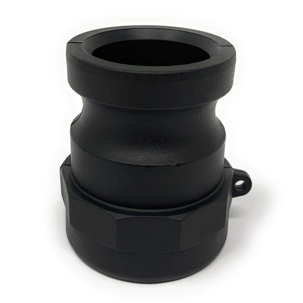 2 Inch Polypropylene Cam & Groove Fitting, A200 Male Camlock Adapter X Female NPT Thread
