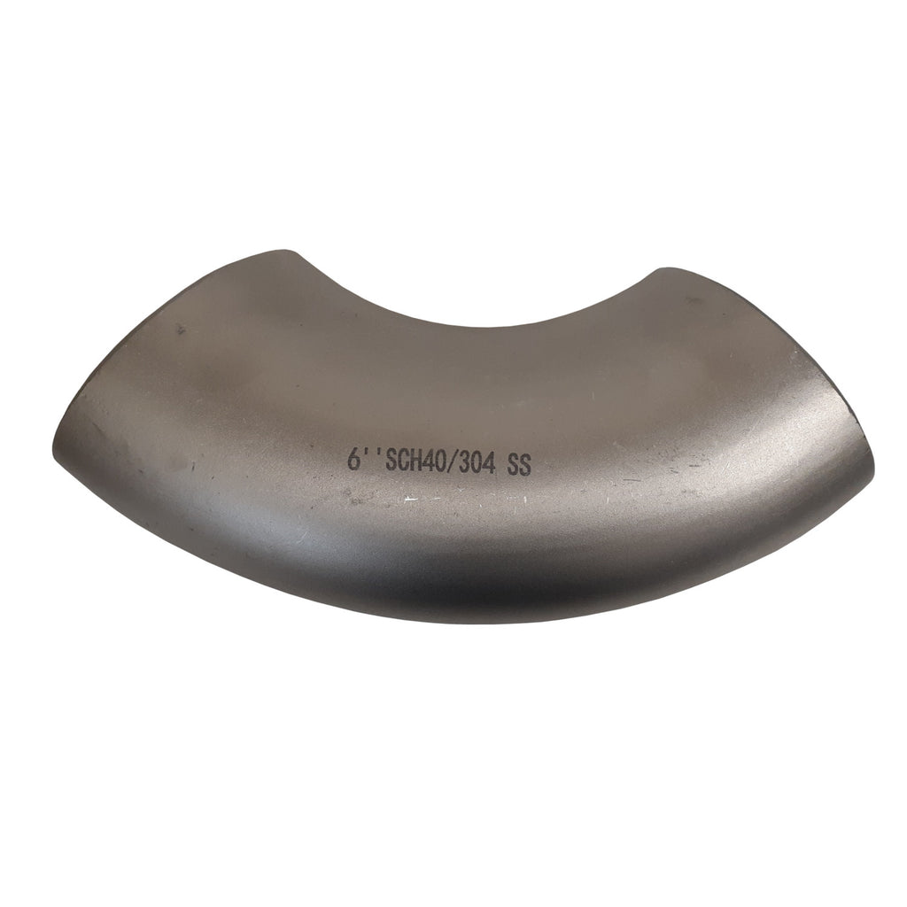 6 Inch Sch 40 Stainless Steel 90 Degree Elbow, Weld, 304SS, ASTM A403, Class 150