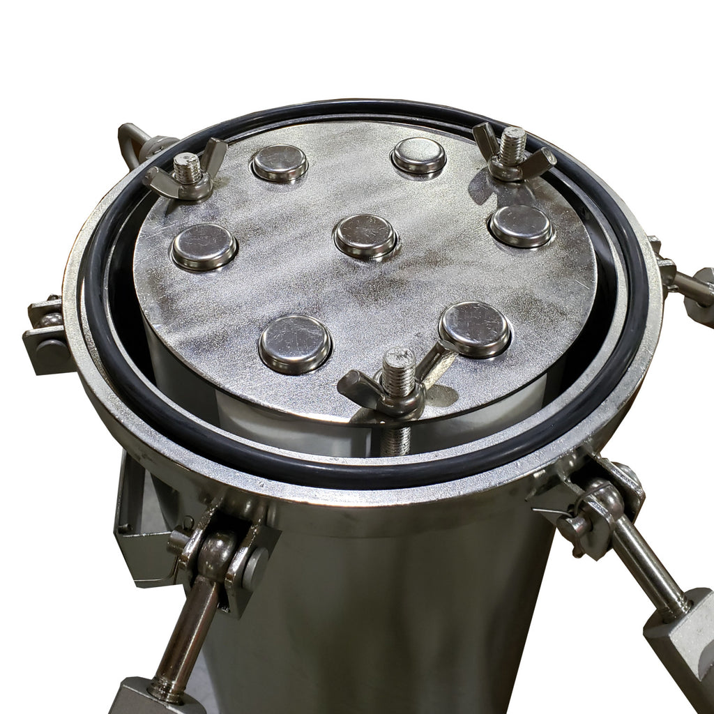 "PRM 304 Stainless Steel 7 Cartridge Filter Housing, Uses 40"" Cartridges, 3 Inch Flange In/Out"