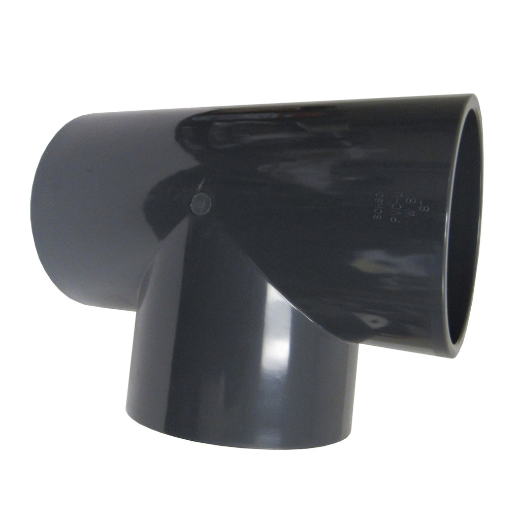 ERA Sch 80 PVC Straight Tee, 1-1/2 Inch Socket Connect