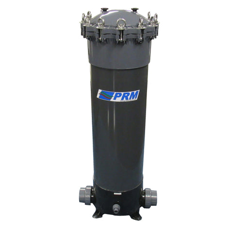 "PRM PVC 9 Cartridge Filter Housing, Uses 40"" Cartridges, 3 Inch Socket In/Out"