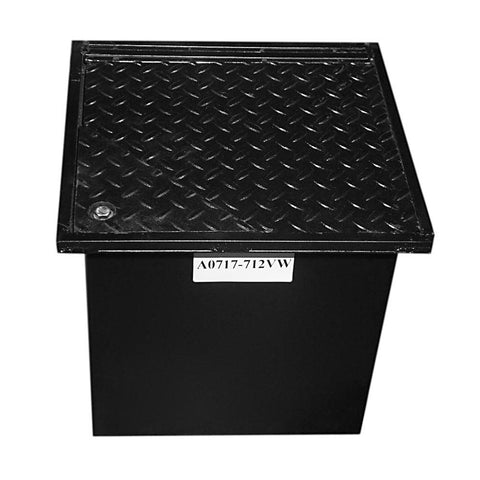 WELL VAULT - 18 X 18 X 24 INCH, LAY-IN, BOLT-DOWN LID, WATER RESISTANT - A0717-718BWA