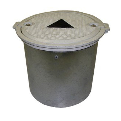 MONITORING WELL - 12 X 12 INCH BOLT DOWN LID, GALVANIZED SKIRT - A0721-101