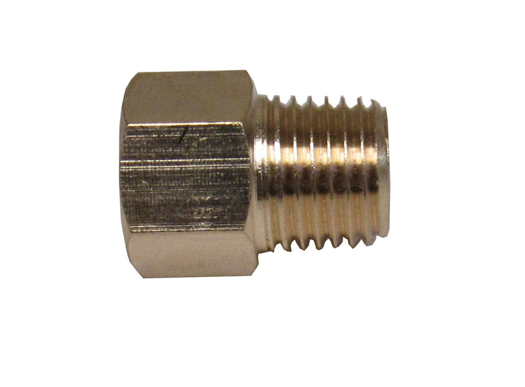 Brass Adapter - 1/4 Inch NPT Male X 1/4 Inch BSPP Female