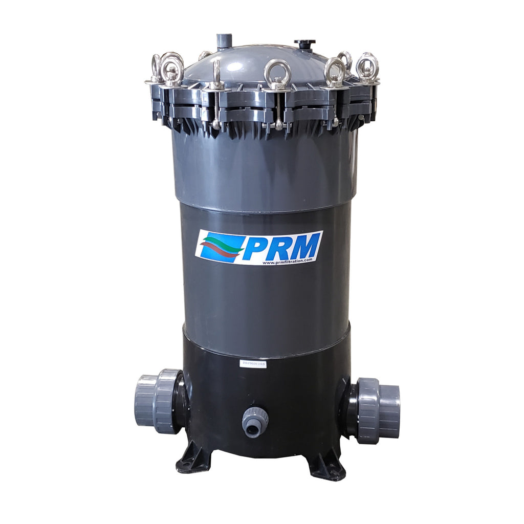 "PRM PVC 9 Cartridge Filter Housing, Uses 20"" Cartridges, 3 Inch NPT In/Out"