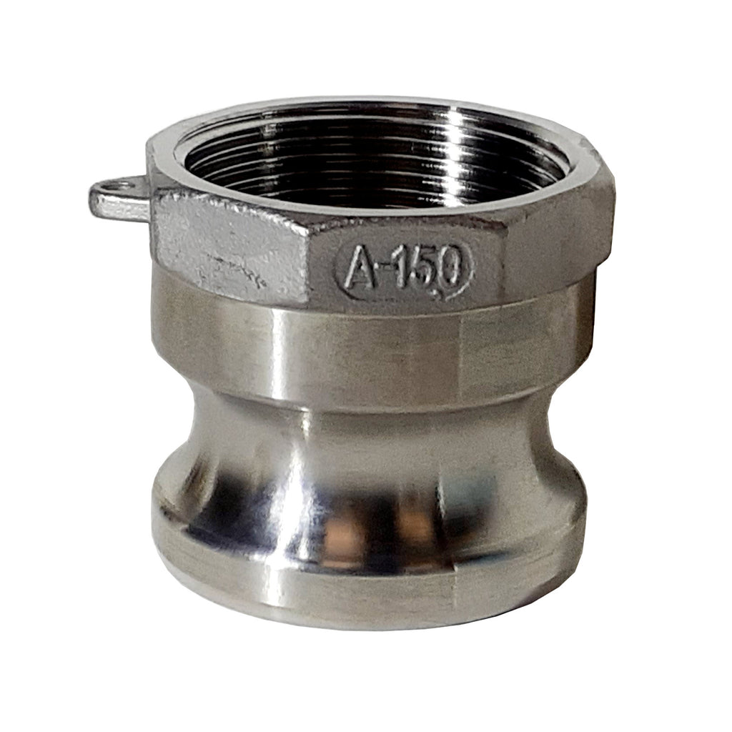Stainless Steel Cam & Groove Fitting A150 Male Camlock X Female NPT Thread, 1-1/2 Inch