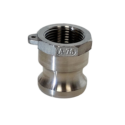 Stainless Steel Cam & Groove Fitting A075 Male Camlock X Female NPT Thread, 3/4 Inch