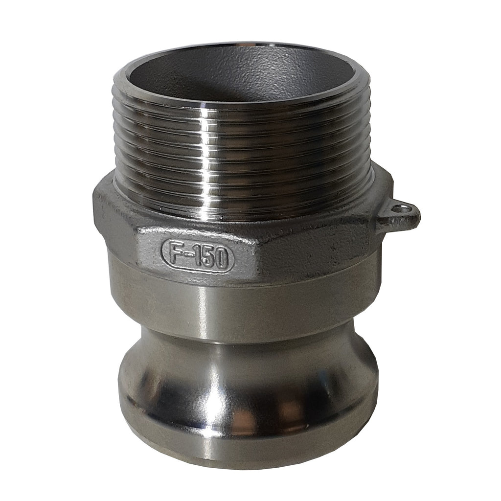 Stainless Steel Cam & Groove F125 Fitting, 1-1/4 Inch Male Camlock X Male NPT Thread