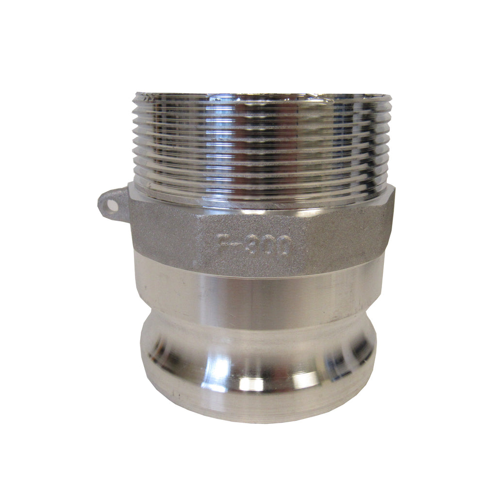 Aluminum Cam & Groove Fitting F075 Male Camlock X Male NPT Thread - 3/4 Inch