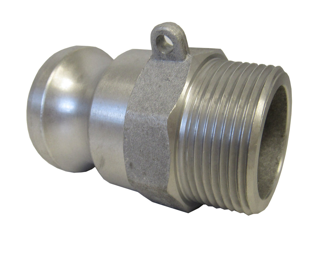Aluminum Cam & Groove Fitting F300 Male Camlock X Male NPT Thread - 3 Inch