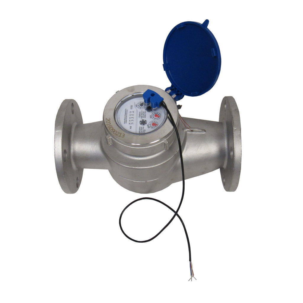 PRM 2 Inch Flanged Stainless Steel Multi-Jet Totalizing Water Meter with Pulse Output