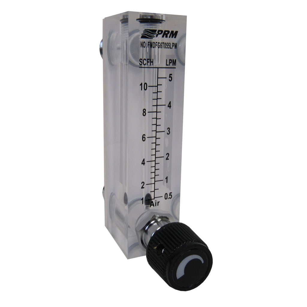 PRM FMDFG6T055LPM 0.5-5 LPM Air Rotameter Flow Meter with Integrated Flow Valve
