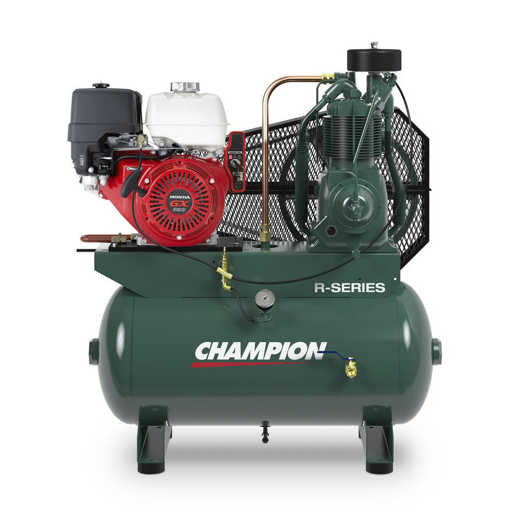 Champion HGR7-3H Engine Driven Reciprocating Air Compressor, 13HP Honda Gas Engine, 30 Gallon Tank, 23.2 CFM@175 PSIG
