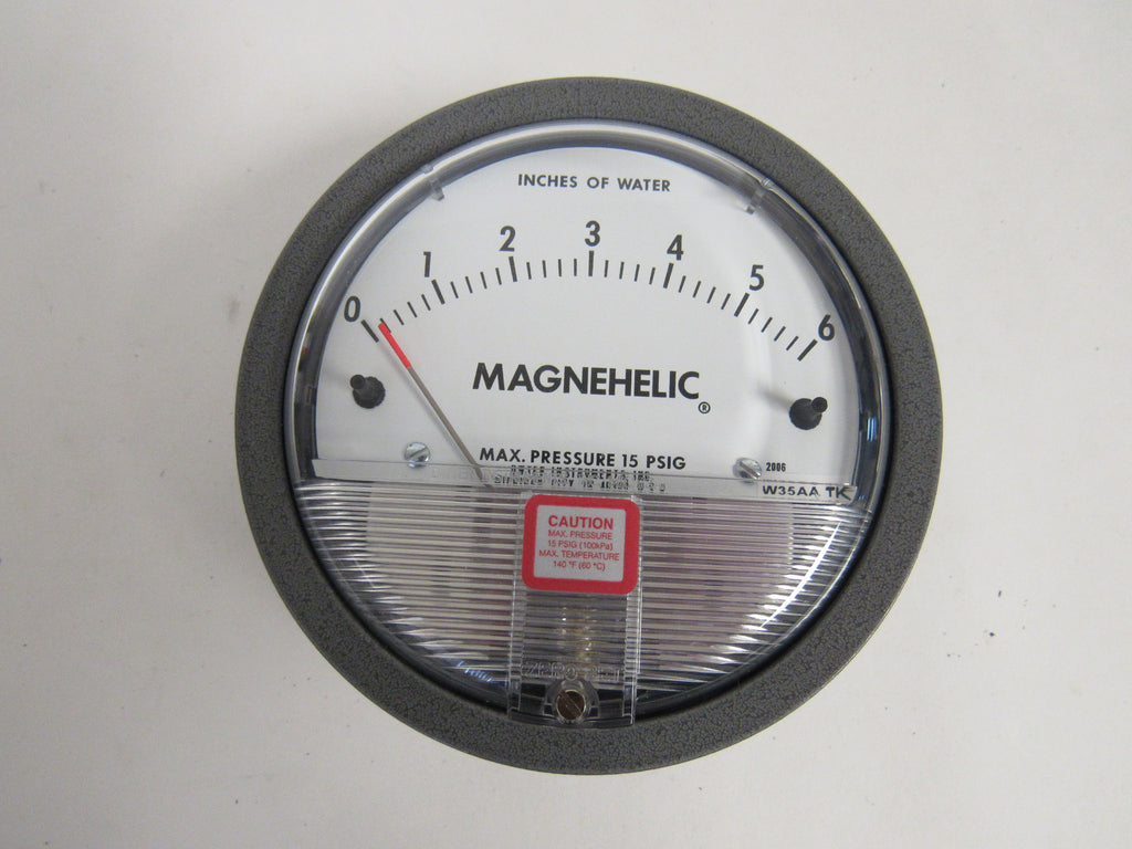 DWYER 2050 MAGNEHELIC® DIFFERENTIAL PRESSURE GAUGE - 0-50 INCHES OF WATER