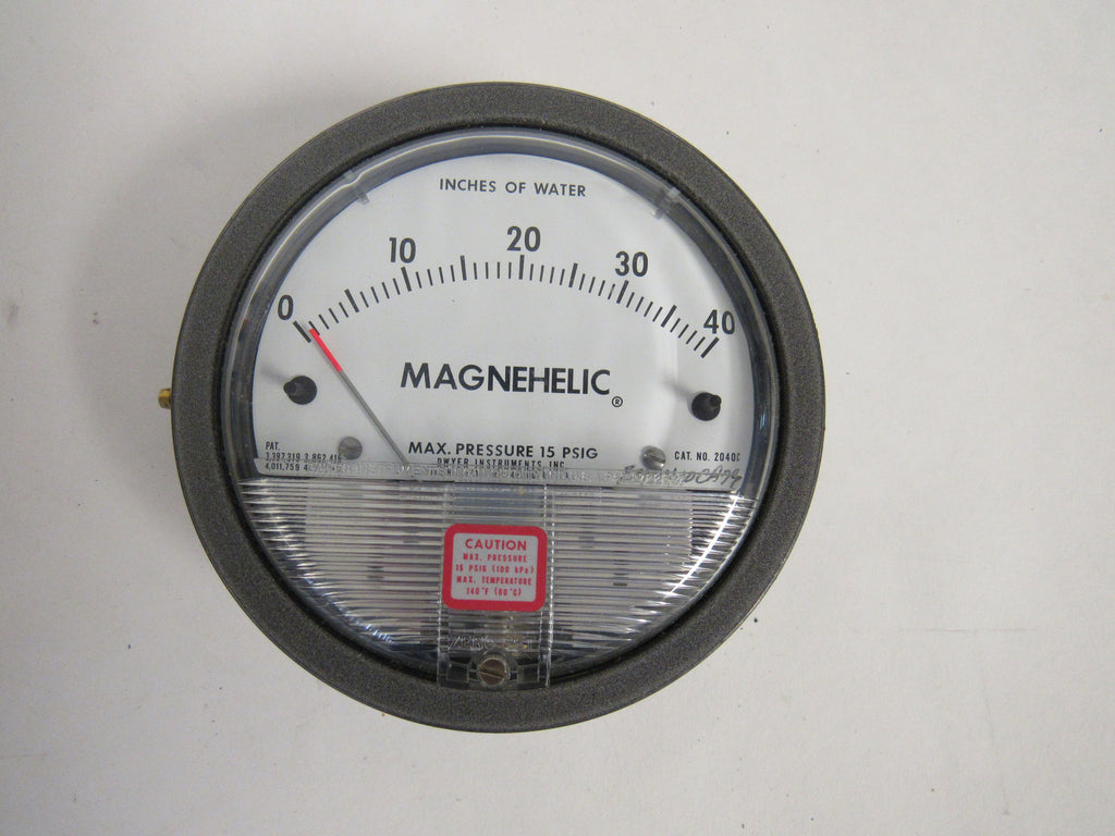 DWYER 2006 MAGNEHELIC® DIFFERENTIAL PRESSURE GAUGE - 0-6 INCHES OF WATER