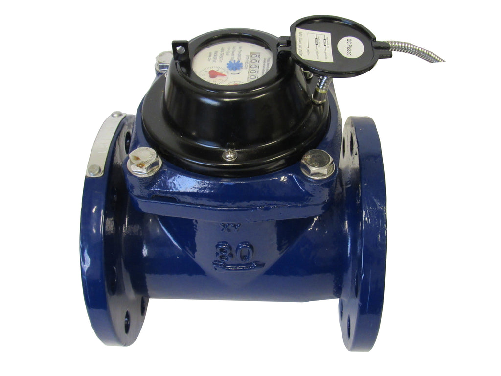 PRM Woltmann Helix Style 3 Inch Flanged Totalizing Water Meter with Pulse Output