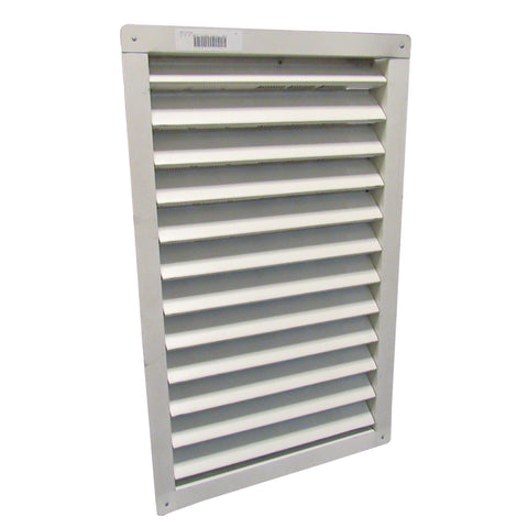 AIR VENT - 14 INCH X 24 INCH WHITE ALUMINUM RECTANGLE GABLE VENT