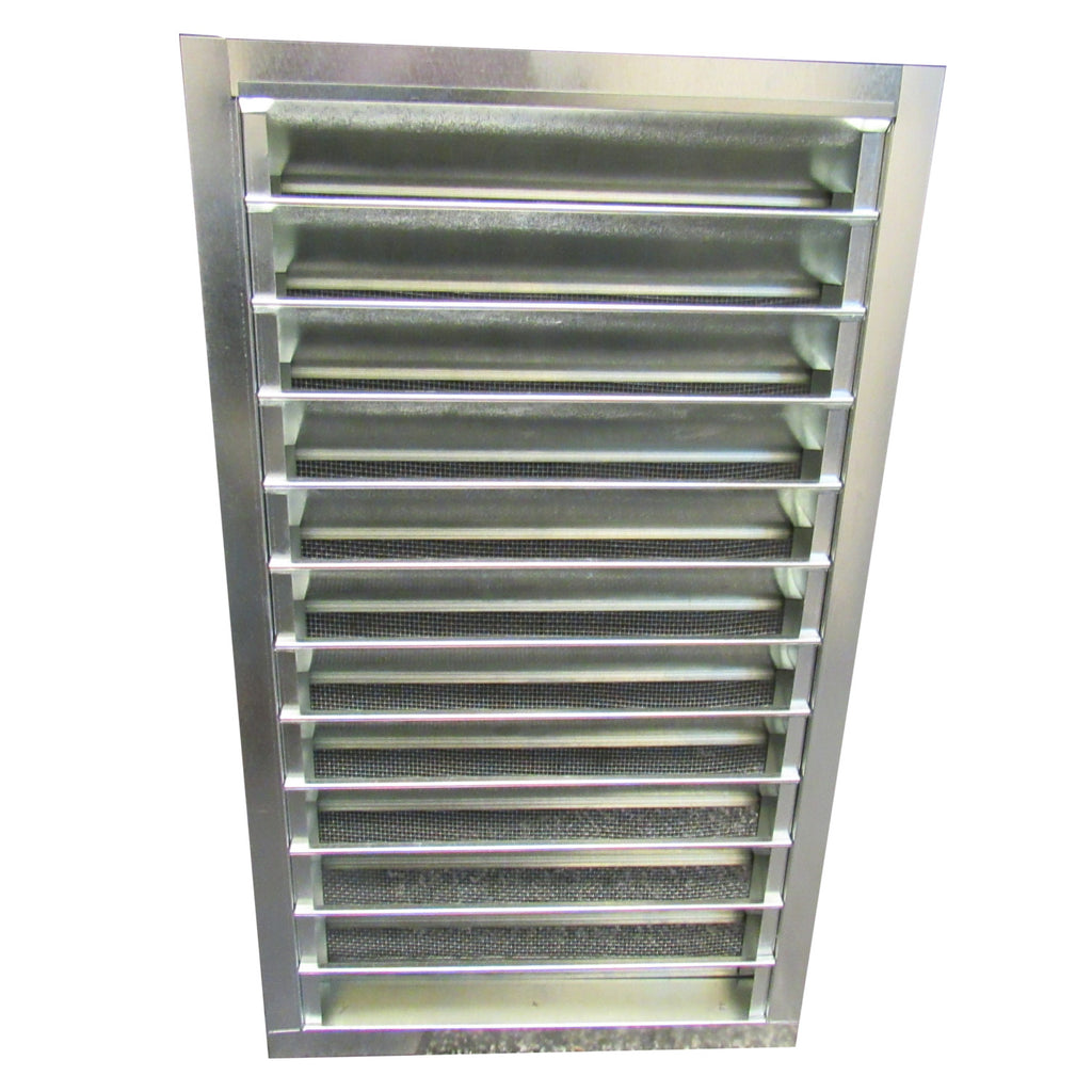 Air Vent, 14 Inch X 24 Inch Galvanized Rectangle Gable Vent